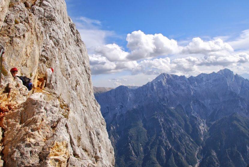 Klettersteig Buchstein : Großer buchstein südwandbandklettersteig